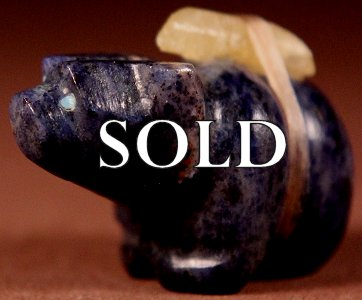 Jeff Eriacho | Lapis   | Bear   | Price: $24. +  $8.50  domestic shipping | Texas sales tax applies to Texas Residents! | CLICK  IMAGE for more views & information. | Authentic Zuni fetishes direct from Zuni Pueblo to YOU from Zunispirits.com!