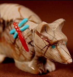 Clissa Martin    Picasso Marble    Inlaid Armadillo    Price WAS: $60.     SALE PRICE:  $45. +  $8.50  domestic shipping   Texas sales tax applies to Texas Residents!   CLICK  IMAGE for more views & information.   Authentic Zuni fetishes direct from Zuni Pueblo to YOU from Zunispirits.com!