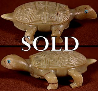 Clive Lasiloo  | Serpentine  | Hawksbill Turtle  | Price: $250. +  $11.25  domestic shipping | Texas sales tax applies to Texas Residents! | CLICK  IMAGE for more views & information. | Authentic Zuni fetishes direct from Zuni Pueblo to YOU from Zunispirits.com!