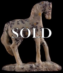 Hubert Pincion | Soapstone   | Horse   | Price: $48. +  $8.00  domestic shipping | Texas sales tax applies to Texas Residents! | CLICK  IMAGE for more views & information. | Authentic Zuni fetishes direct from Zuni Pueblo to YOU from Zunispirits.com!