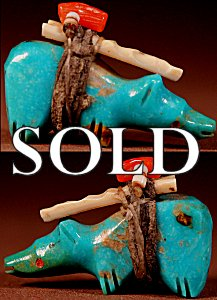 Rignie(d.) & Lena Boone  | Turquoise   | Bear   | Price: $150. +  $10.00  domestic shipping | Texas sales tax applies to Texas Residents! | CLICK  IMAGE for more views & information. | Authentic Zuni fetishes direct from Zuni Pueblo to YOU from Zunispirits.com!
