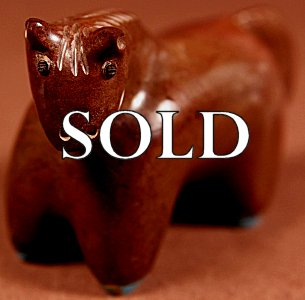 Hayes Leekya  |  Zuni Mountain Travertine  |  Horse  | Price: $75. +  $9.25   domestic shipping | Texas sales tax applies to Texas Residents! | CLICK  IMAGE for more views & information. | Authentic Zuni fetishes direct from Zuni Pueblo to YOU from Zunispirits.com!