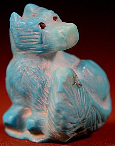 Jerold Laheleon  | Turquoise  | Wolf   | Price: $65. +  $9.25  domestic shipping | Texas sales tax applies to Texas Residents! | CLICK  IMAGE for more views & information. | Authentic Zuni fetishes direct from Zuni Pueblo to YOU from Zunispirits.com!