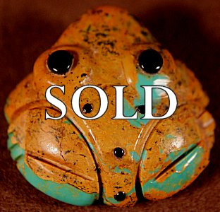 Georgette Quam | Turquoise  | Frog  | Price: $48. +  $8.50  domestic shipping | Texas sales tax applies to Texas Residents! | CLICK  IMAGE for more views & information. | Authentic Zuni fetishes direct from Zuni Pueblo to YOU from Zunispirits.com!