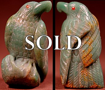 Derrick Kaamasee | Serpentine | Eagle   | Price: $195. +  $10.00  domestic shipping | Texas sales tax applies to Texas Residents! | CLICK  IMAGE for more views & information. | Authentic Zuni fetishes direct from Zuni Pueblo to YOU from Zunispirits.com!