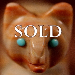 Vernon Lunasee & Prudencia Quam  | Picassso Marble  | Mountain Lion  | Price: $95. +  $9.25  domestic shipping | Texas sales tax applies to Texas Residents! | CLICK  IMAGE for more views & information. | Authentic Zuni fetishes direct from Zuni Pueblo to YOU from Zunispirits.com!