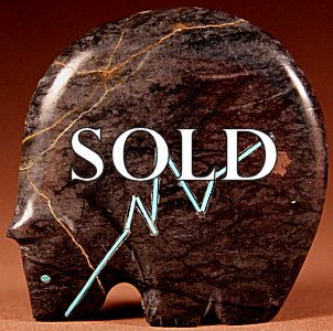 Stewart Quandelacy | Picasso Marble  | Medicine Bear  | Price: $135. +  $10.00  domestic shipping | Texas sales tax applies to Texas Residents! | CLICK  IMAGE for more views & information. | Authentic Zuni fetishes direct from Zuni Pueblo to YOU from Zunispirits.com!