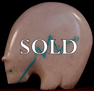 Stewart Quandelacy | Colorado White Marble  |  Medicine Bear | Price: $165. +  $10.00  domestic shipping | Texas sales tax applies to Texas Residents! | CLICK  IMAGE for more views & information. | Authentic Zuni fetishes direct from Zuni Pueblo to YOU from Zunispirits.com!