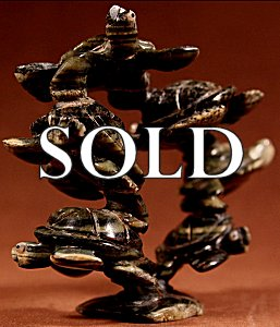 Ron Laahty  | Ricolite | Balancing Turtles | Price: $350.00. +  $12.50  domestic shipping | Texas sales tax applies to Texas Residents! | CLICK  IMAGE for more views & information. | Authentic Zuni fetishes direct from Zuni Pueblo to YOU from Zunispirits.com!