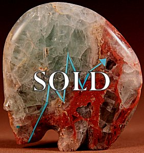 Stewart Quandelacy |  Gila Fluorite  | Medicine bear  | Price: $195. +  $10.00  domestic shipping | Texas sales tax applies to Texas Residents! | CLICK  IMAGE for more views & information. | Authentic Zuni fetishes direct from Zuni Pueblo to YOU from Zunispirits.com!