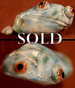 Ricky Laahty |  Larimar  | Frog  | Price: $135. +  $10.0o0  domestic shipping | Texas sales tax applies to Texas Residents! | CLICK  IMAGE for more views & information. | Authentic Zuni fetishes direct from Zuni Pueblo to YOU from Zunispirits.com!