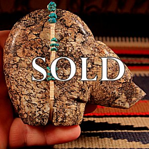 Ed Lementino  | Local Stone  | Medicine Table Bear  | Price: $95. +  $9.25  domestic shipping | Texas sales tax applies to Texas Residents! | CLICK  IMAGE for more views & information. | Authentic Zuni fetishes direct from Zuni Pueblo to YOU from Zunispirits.com!
