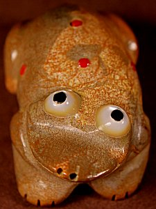 Freddie Leekya   Zuni Rock    Bug-eye Frog    Price: $54. +  $9.25  domestic shipping   Texas sales tax applies to Texas Residents!   CLICK  IMAGE for more views & information.   Authentic Zuni fetishes direct from Zuni Pueblo to YOU from Zunispirits.com!