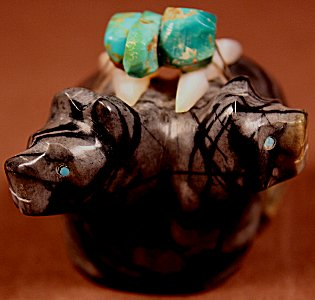 Al Lasiloo     Picasso Marble    Double Bears  Price: $65. +  $9.25   domestic shipping   Texas sales tax applies to Texas Residents!   CLICK  IMAGE for more views & information.   Authentic Zuni fetishes direct from Zuni Pueblo to YOU from Zunispirits.com!