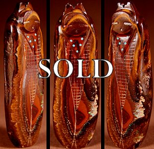 Todd Westika | Yowah Boulder Opal |  Corn Maiden  | Price: $195. +  $10.00  domestic shipping | Texas sales tax applies to Texas Residents! | CLICK  IMAGE for more views & information. | Authentic Zuni fetishes direct from Zuni Pueblo to YOU from Zunispirits.com!
