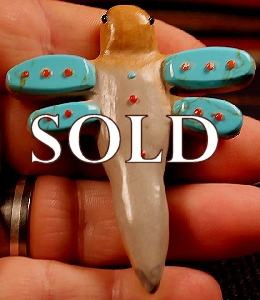 Hayes Leekya  | Zuni Rock | Inlaid Dragonfly  | Price: $65. +  $9.25   domestic shipping | Texas sales tax applies to Texas Residents! | CLICK  IMAGE for more views & information. | Authentic Zuni fetishes direct from Zuni Pueblo to YOU from Zunispirits.com!