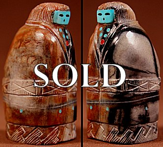 Emery Boone | Picasso Marble  | Zuni Matron | Price: $54. +  $9.25   domestic shipping | Texas sales tax applies to Texas Residents! | CLICK  IMAGE for more views & information. | Authentic Zuni fetishes direct from Zuni Pueblo to YOU from Zunispirits.com!
