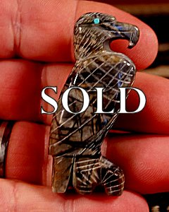 Fitz Kiyite  | Picasso Marble  | Eagle  | Price: $42. +  $8.50  domestic shipping | Texas sales tax applies to Texas Residents! | CLICK  IMAGE for more views & information. | Authentic Zuni fetishes direct from Zuni Pueblo to YOU from Zunispirits.com!