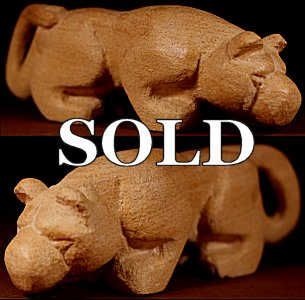 Brian Yatsattie |  Local Sandstone  | Giant Mountain Lion  | Price WAS: $165.  |  SALE Price: $125. +  $11.25  domestic shipping | Texas sales tax applies to Texas Residents! | CLICK  IMAGE for more views & information. | Authentic Zuni fetishes direct from Zuni Pueblo to YOU from Zunispirits.com!