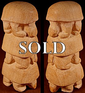 Brian Yatsattie | Sandstone  | Turtle Totem  | Price: $150. +  $10.00  domestic shipping | Texas sales tax applies to Texas Residents! | CLICK  IMAGE for more views & information. | Authentic Zuni fetishes direct from Zuni Pueblo to YOU from Zunispirits.com!