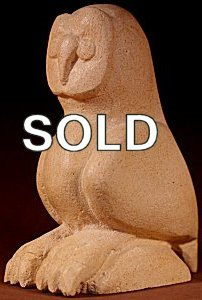 Brian Yatsattie | Sandstone  | Owl Sculpture  | Price WAS: $225.  |  SALE Price: $145. +  $11.25  domestic shipping | Texas sales tax applies to Texas Residents! | CLICK  IMAGE for more views & information. | Authentic Zuni fetishes direct from Zuni Pueblo to YOU from Zunispirits.com!