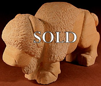 Brian Yatsattie  | Sandstone  | Buffalo  | Price WAS: $295.  |  SALE Price: $195. +  $11.25  domestic shipping | Texas sales tax applies to Texas Residents! | CLICK  IMAGE for more views & information. | Authentic Zuni fetishes direct from Zuni Pueblo to YOU from Zunispirits.com!