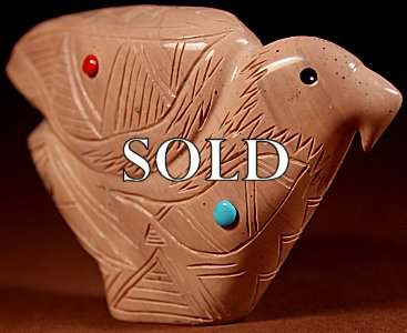 Daniel Chattin  | Chocolate Serpentine  | Eagle  | Price: $275. +  $11.25  domestic shipping | Texas sales tax applies to Texas Residents! | CLICK  IMAGE for more views & information. | Authentic Zuni fetishes direct from Zuni Pueblo to YOU from Zunispirits.com!