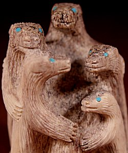 Destry Suitza  | Antler  | Bear Hug  | Price WAS: $225.   ON SALE: $150.  +  $10.00  domestic shipping | Texas sales tax applies to Texas Residents! | CLICK  IMAGE for more views & information. | Authentic Zuni fetishes direct from Zuni Pueblo to YOU from Zunispirits.com!