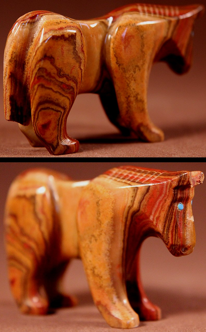 Zuni Spirits is proud to represent a variety of Zuni fetish carvers, including Loubert & Rosella Souseah!