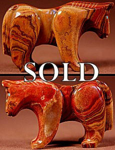 Loubert & Rosella Soseeah  | Onyx-Travertine  | Horse  | Price: $65. +  $9.25  domestic shipping | Texas sales tax applies to Texas Residents! | CLICK  IMAGE for more views & information. | Authentic Zuni fetishes direct from Zuni Pueblo to YOU from Zunispirits.com!