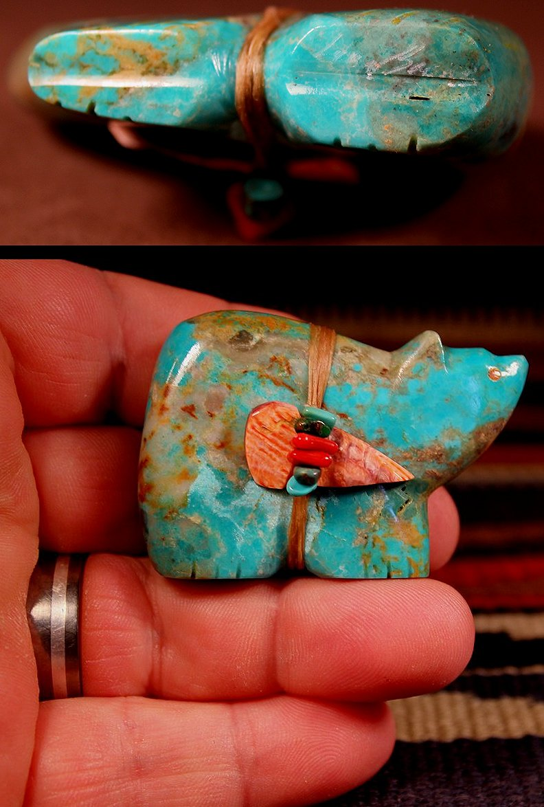 Zuni Spirits is proud to represent a variety of Zuni fetish carvers, including Lena Boone !