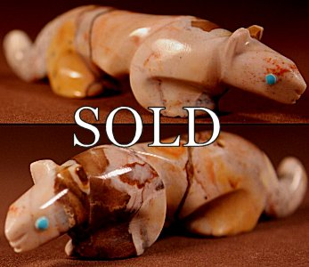 Ronnie Lunasee  | Picasso Marble  | Mt Lion  | Price: $65. +  $9.25  domestic shipping | Texas sales tax applies to Texas Residents! | CLICK  IMAGE for more views & information. | Authentic Zuni fetishes direct from Zuni Pueblo to YOU from Zunispirits.com!