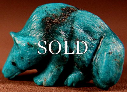 Maxx Laate | Natural Turquoise | Wolf  | Price: $72. +  $9.25  domestic shipping | Texas sales tax applies to Texas Residents! | CLICK  IMAGE for more views & information. | Authentic Zuni fetishes direct from Zuni Pueblo to YOU from Zunispirits.com!