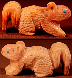 Sedrick Banteah | Picasso Marble | Squirrel | Price: $60. +  $9.25  domestic shipping | Texas sales tax applies to Texas Residents! | CLICK  IMAGE for more views & information. | Authentic Zuni fetishes direct from Zuni Pueblo to YOU from Zunispirits.com!