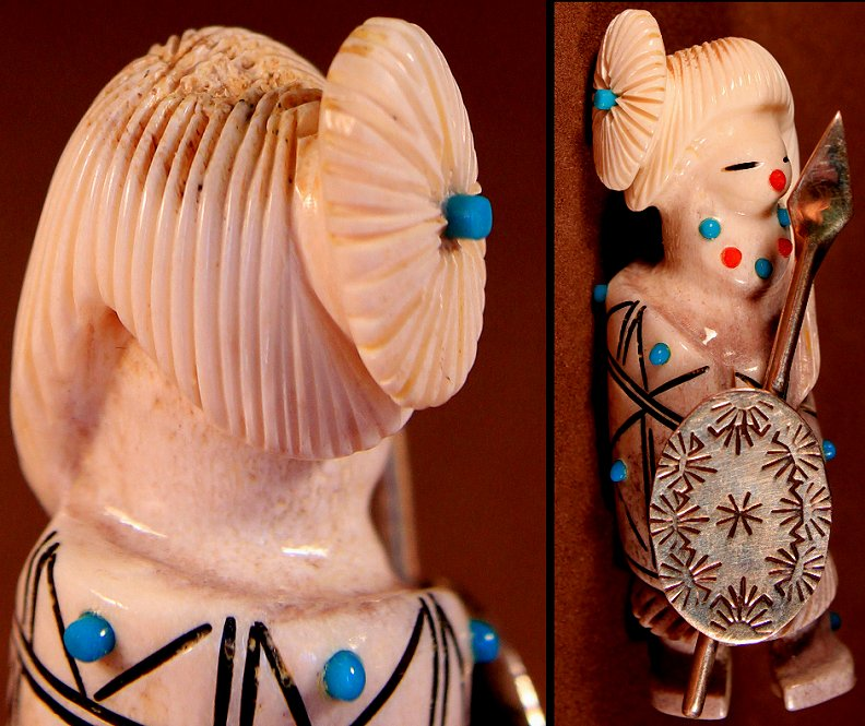 Zuni Spirits is proud to represent a variety of Zuni fetish carvers, including Claudia Peina!