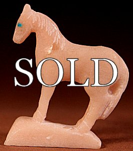 Hubert Pincion | Alabaster | Horse  | Price: $65. +  $9.25  domestic shipping | Texas sales tax applies to Texas Residents! | CLICK  IMAGE for more views & information. | Authentic Zuni fetishes direct from Zuni Pueblo to YOU from Zunispirits.com!