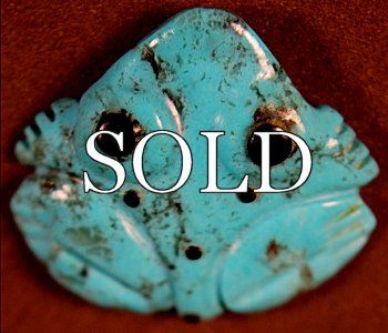 Georgette Quam | Turquoise | Frog | Price WAS: $48.  |  SALE PRICE:  $36.  +   $8.50  domestic shipping | Texas sales tax applies to Texas Residents! | CLICK  IMAGE  for more views & information. | Authentic Zuni fetishes direct from Zuni Pueblo to YOU  from Zunispirits.com!