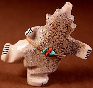 Claudia Peina | Antler | Singing & Dancing Bear  | Price: $75. +  $9.25  domestic shipping | Texas sales tax applies to Texas Residents! | CLICK  IMAGE for more views & information. | Authentic Zuni fetishes direct from Zuni Pueblo to YOU from Zunispirits.com!