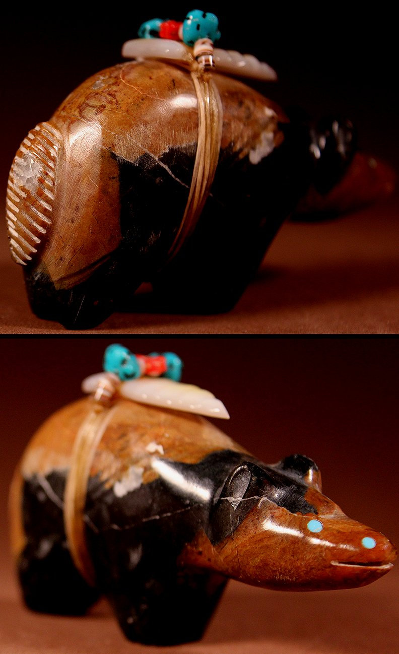 Zuni Spirits is proud to represent a variety of Zuni fetish carvers, including Pete (d.) & Dinah Gasper !