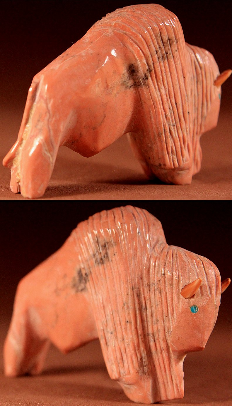 Zuni Spirits is proud to represent a variety of Zuni fetish carvers, including Rhoda Quam!