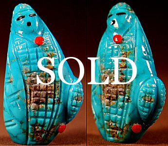Daniel Chattin | Turquoise | Corn Maiden  | Price: $135. +  $10.00  domestic shipping | Texas sales tax applies to Texas Residents! | CLICK  IMAGE for more views & information. | Authentic Zuni fetishes direct from Zuni Pueblo to YOU from Zunispirits.com!