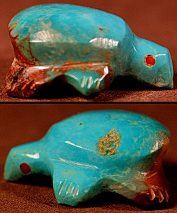 Lena Boone | Turquoise | Turtle | Price: $45. +  $8.50  domestic shipping | Texas sales tax applies to Texas Residents! | CLICK  IMAGE for more views & information. | Authentic Zuni fetishes direct from Zuni Pueblo to YOU from Zunispirits.com!