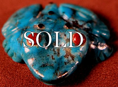 Marilyn Quam | Turquoise | Inlaid Frog  | Price: $39. +  $8.50  domestic shipping | Texas sales tax applies to Texas Residents! | CLICK  IMAGE for more views & information. | Authentic Zuni fetishes direct from Zuni Pueblo to YOU from Zunispirits.com!
