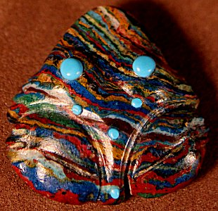 Marilyn Quam Lunasee | Rainbow Calsilica | Frog Zuni Fetish  | Price: $45. +  $9.75  domestic shipping | Texas sales tax applies to Texas Residents! | CLICK  IMAGE for more views & information. | Your purchase comes with Zuni blue corn and a Certificate of Authenticity.