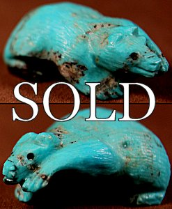 Maxx Laate | Natural Turquoise | Walking Bear | Price: $65. +  $9.25  domestic shipping | Texas sales tax applies to Texas Residents! | CLICK  IMAGE for more views & information. | Authentic Zuni fetishes direct from Zuni Pueblo to YOU from Zunispirits.com!