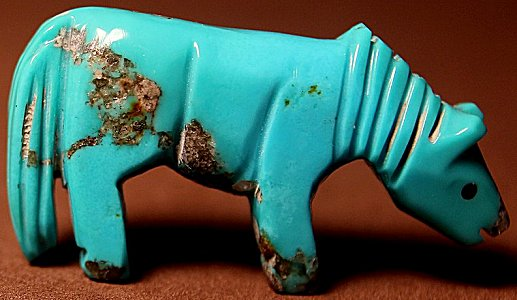 Ellen Quandelacy (d.) | Turquoise | Horse | Price: $295.00 +  $11.25  domestic shipping | Texas 6.75% sales tax applies to Texas Residents! | CLICK  IMAGE for more views & information. | Authentic Zuni fetishes direct from Zuni Pueblo to YOU from Zunispirits.com!