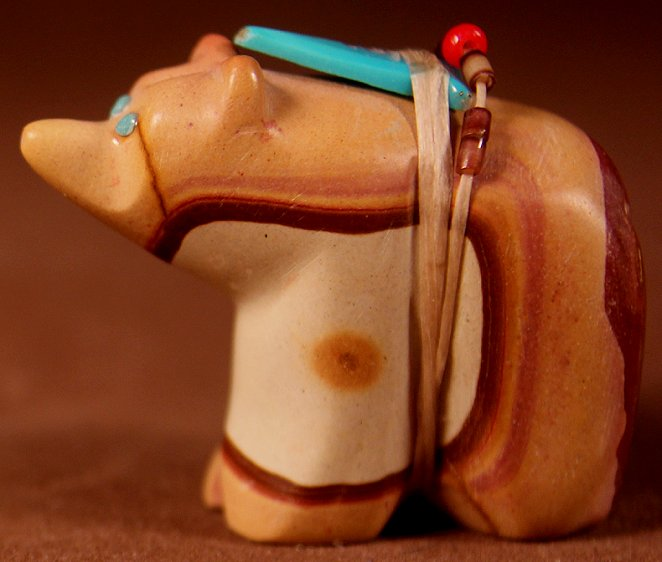 Lena Boone | Jasper | Bear |  Price: $135.00 +  $9.25  domestic shipping | Texas 6.75% sales tax applies to  Texas Residents! | CLICK  IMAGE for more views & information. | Authentic Zuni  fetishes direct from Zuni Pueblo to YOU from Zunispirits.com!