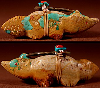 Lena Boone    Royston Turquoise    Wolf    Price: $48. +  $8.50  domestic shipping   Texas sales tax applies to Texas Residents!   CLICK  IMAGE for more views & information.   Authentic Zuni fetishes direct from Zuni Pueblo to YOU from Zunispirits.com!