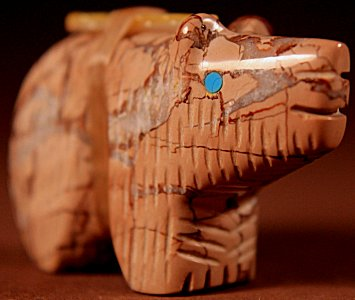 Tony Ahiyite  | Serpentine  | Bear  | Price: $48. +  $8.50  domestic shipping | Texas sales tax applies to Texas Residents! | CLICK  IMAGE for more views & information. | Authentic Zuni fetishes direct from Zuni Pueblo to YOU from Zunispirits.com!