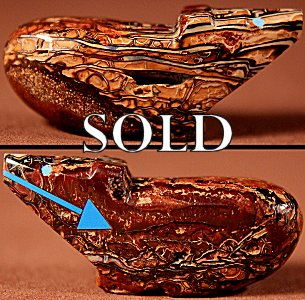 Clayton & Abby Quam Panteah |  Boulder Opal  | Bear  | Price: $48. +  $8.50  domestic shipping | Texas sales tax applies to Texas Residents! | CLICK  IMAGE for more views & information. | Authentic Zuni fetishes direct from Zuni Pueblo to YOU from Zunispirits.com!